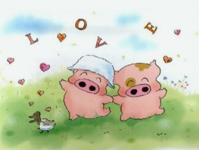 Pigs in relationship of Chinese Zodiac