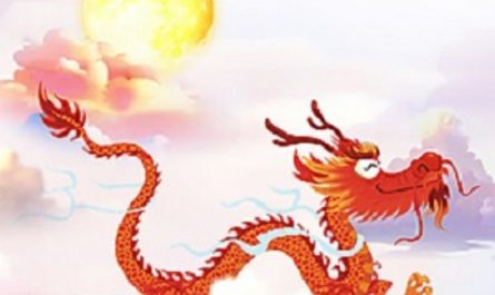 flying dragon in the sky