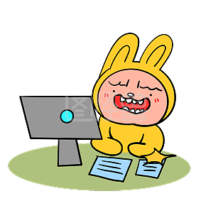 A rabbit is working