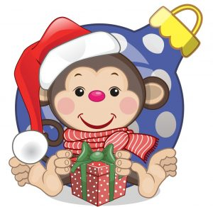 The Monkey is spending Christmas